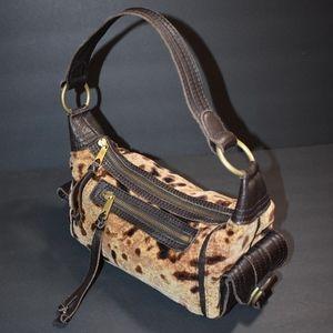 Banana Republic Fuzzy Leopard Print Shoulder Bag